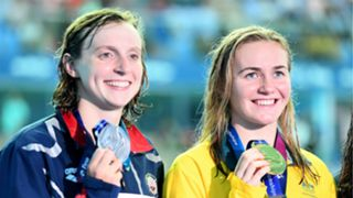 Katie Ledecky and Ariarne Titmus - cropped