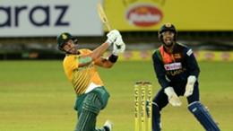 South Africa's Aiden Markram in action against Sri Lanka