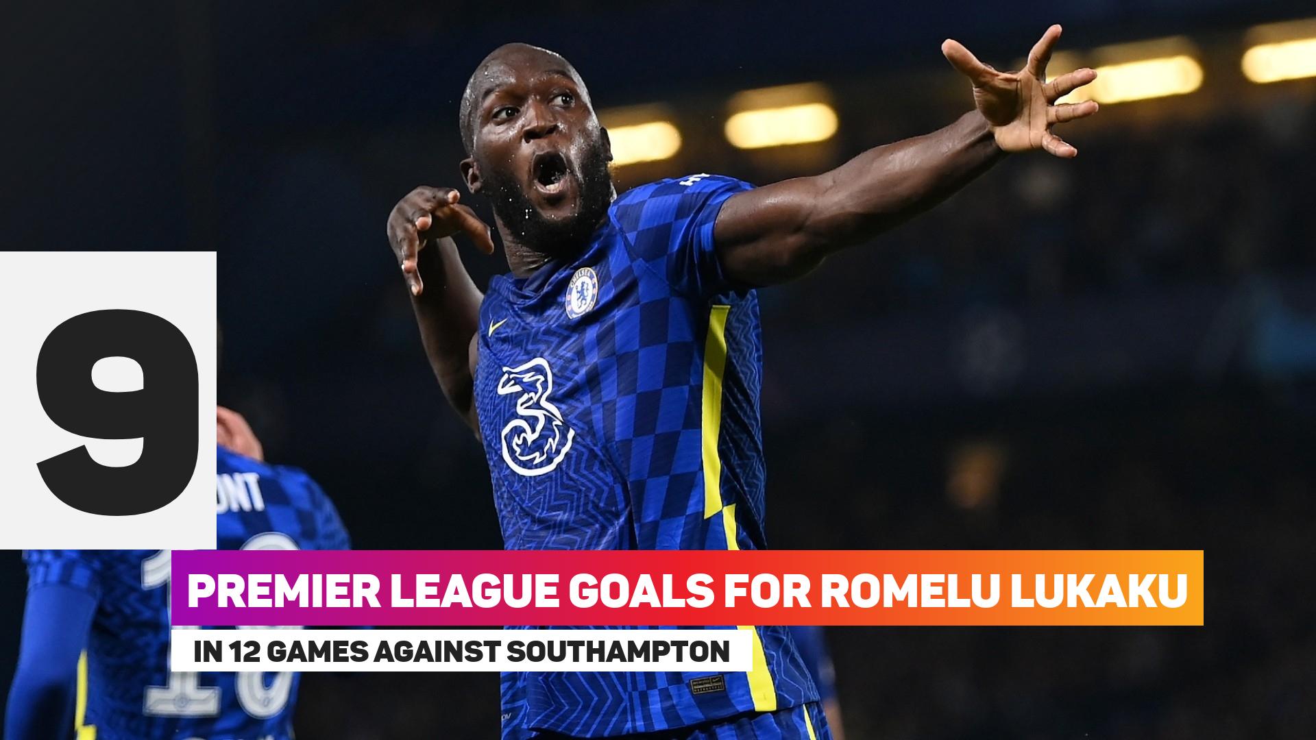 Romelu Lukaku has nine goals in 12 games against Southampton