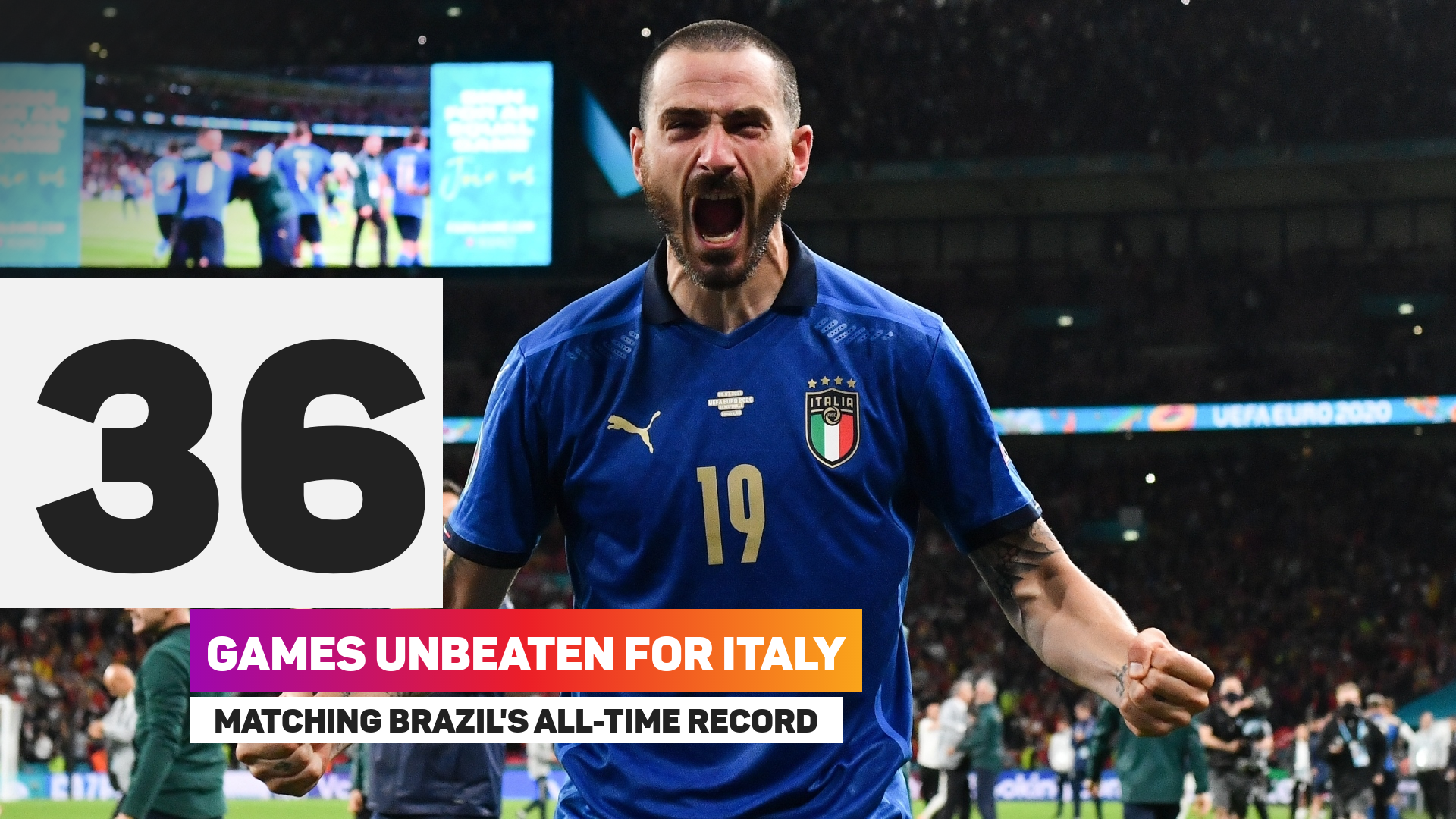Italy have gone 36 games without defeat