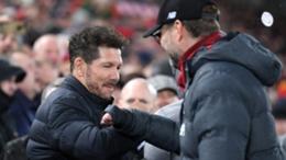 Diego Simeone and Jurgen Klopp will go head to head again on Tuesday