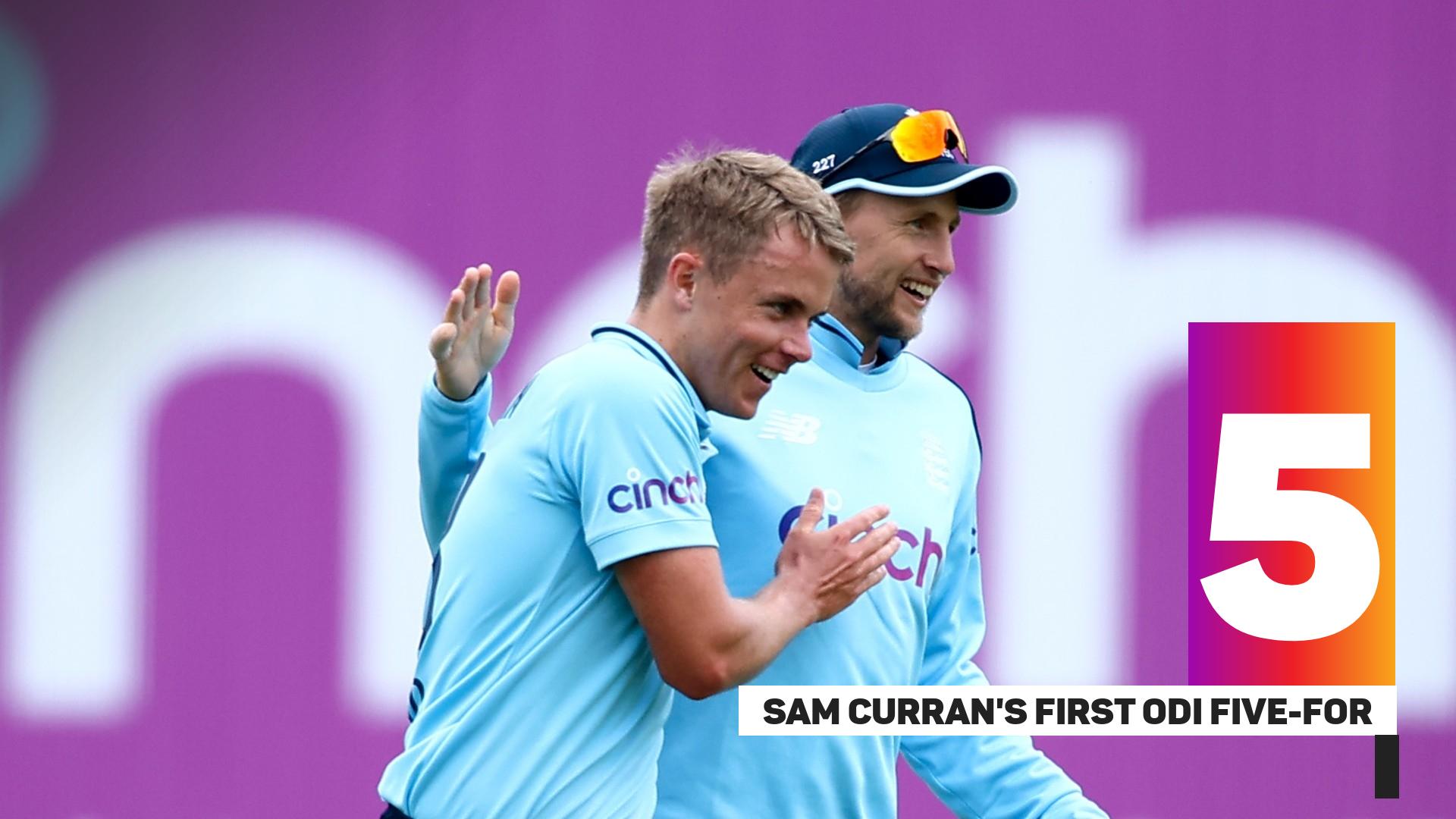 Sam Curran took his first ODI five-for