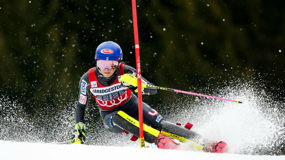 Olympian Mikaela Shiffrin adds slalom globe to overall title