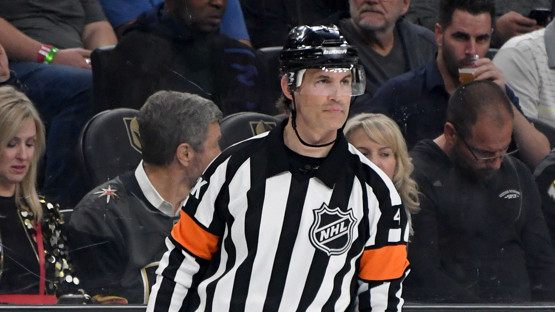 NHL playoffs 2019: Referee Wes McCauley leaves Game 6 with hamstring injury