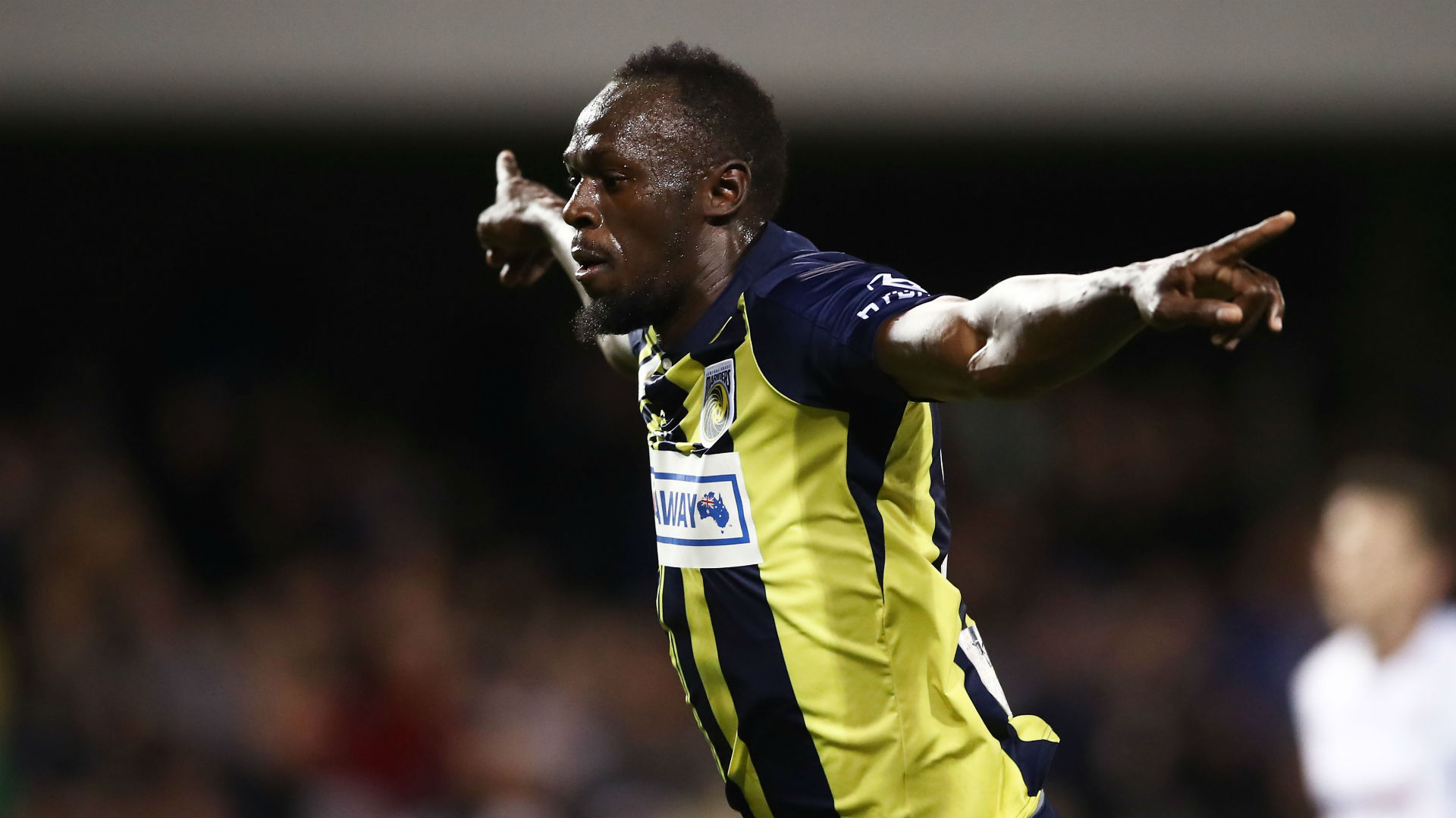 Usain Bolt scored two goals in his first professional soccer start