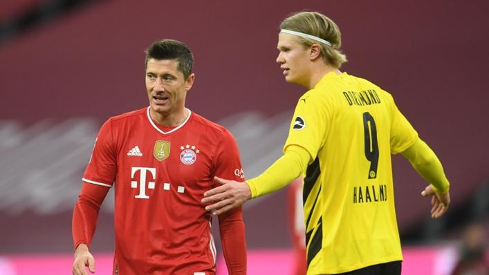 Robert Lewandowski (l) and Erling Haaland have made goalscoring starts to the season