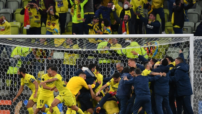 Villarreal celebrate a famous Europa League triumph over Manchester United