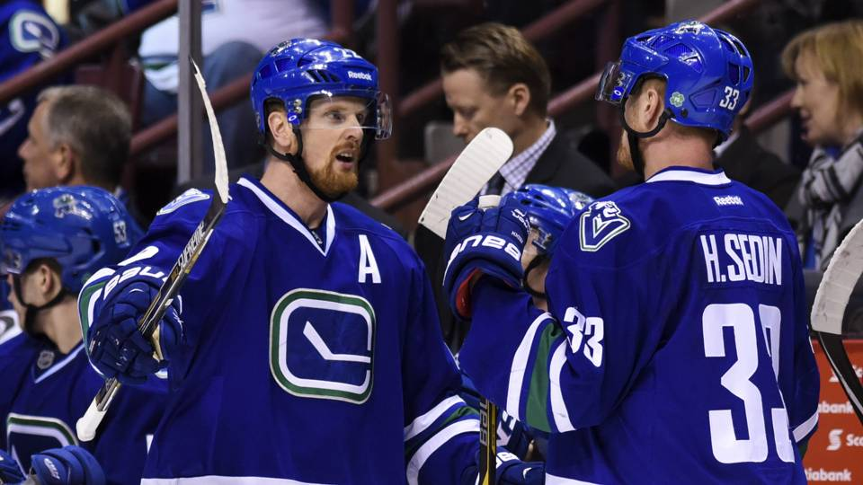 Daniel Sedin makes game-winner in OT in final home game for Canucks