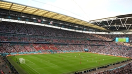 Wembley during England's Euro 2020 semi-final with Denmark