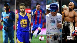 Virat Kohli Steph Curry Lionel Messi Fernando Alonso Floyd Mayweather Jr - cropped