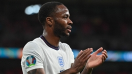 Raheem Sterling has scored both of England goals at Euro 2020
