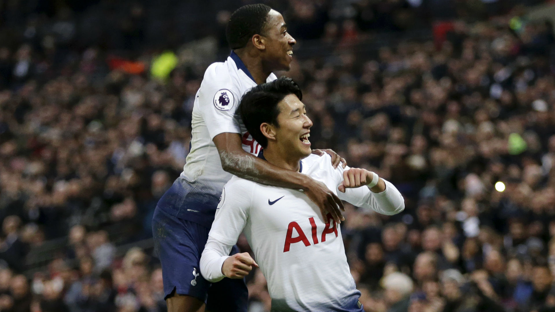 Tottenham climb to second in the table with rout against Bournemouth