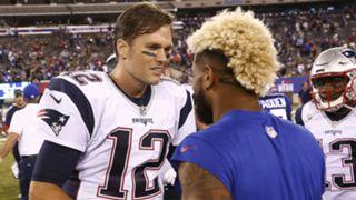 Tom Brady and Odell Beckham Jr.