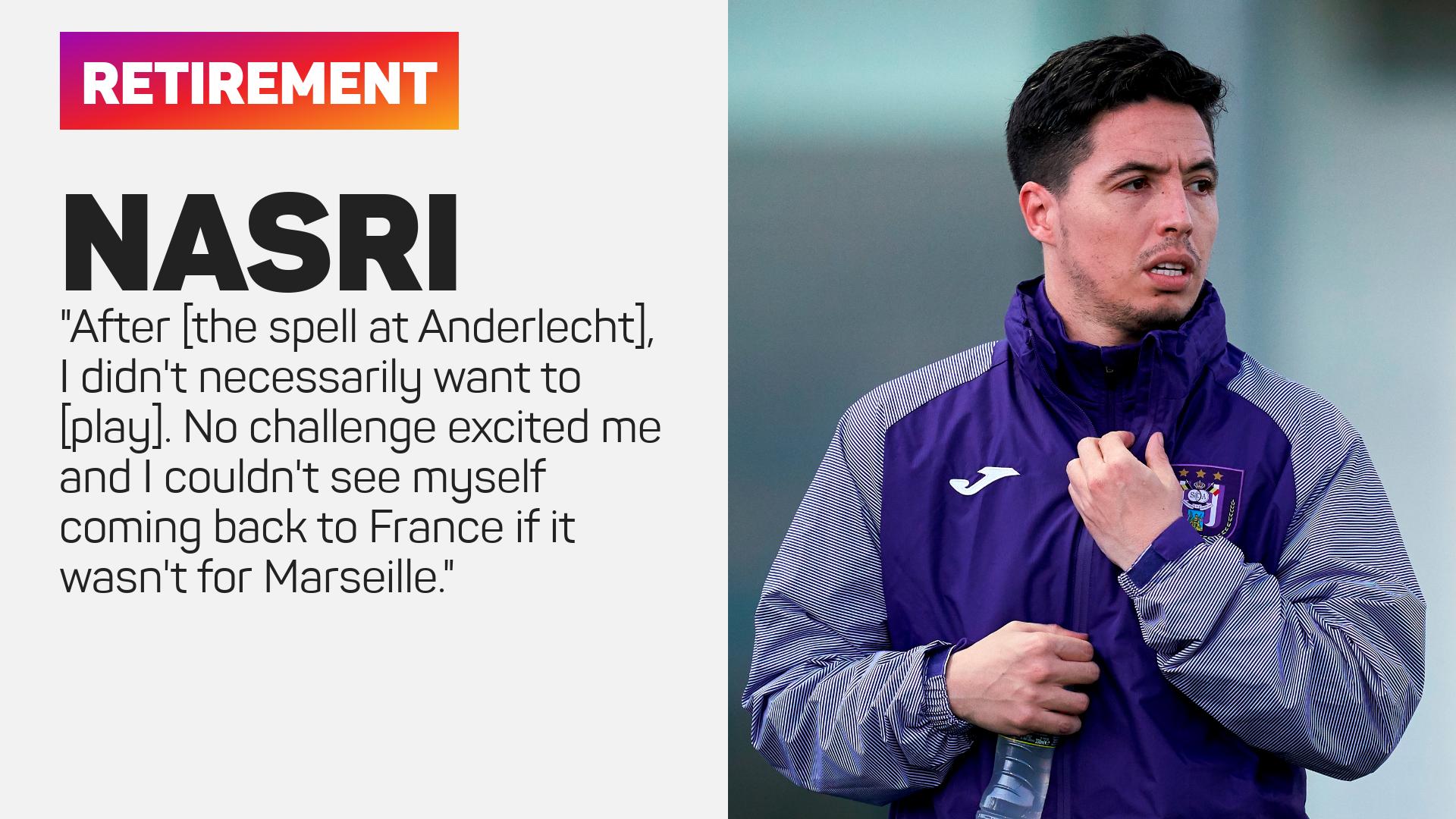 Samir Nasri explained his decision to retire