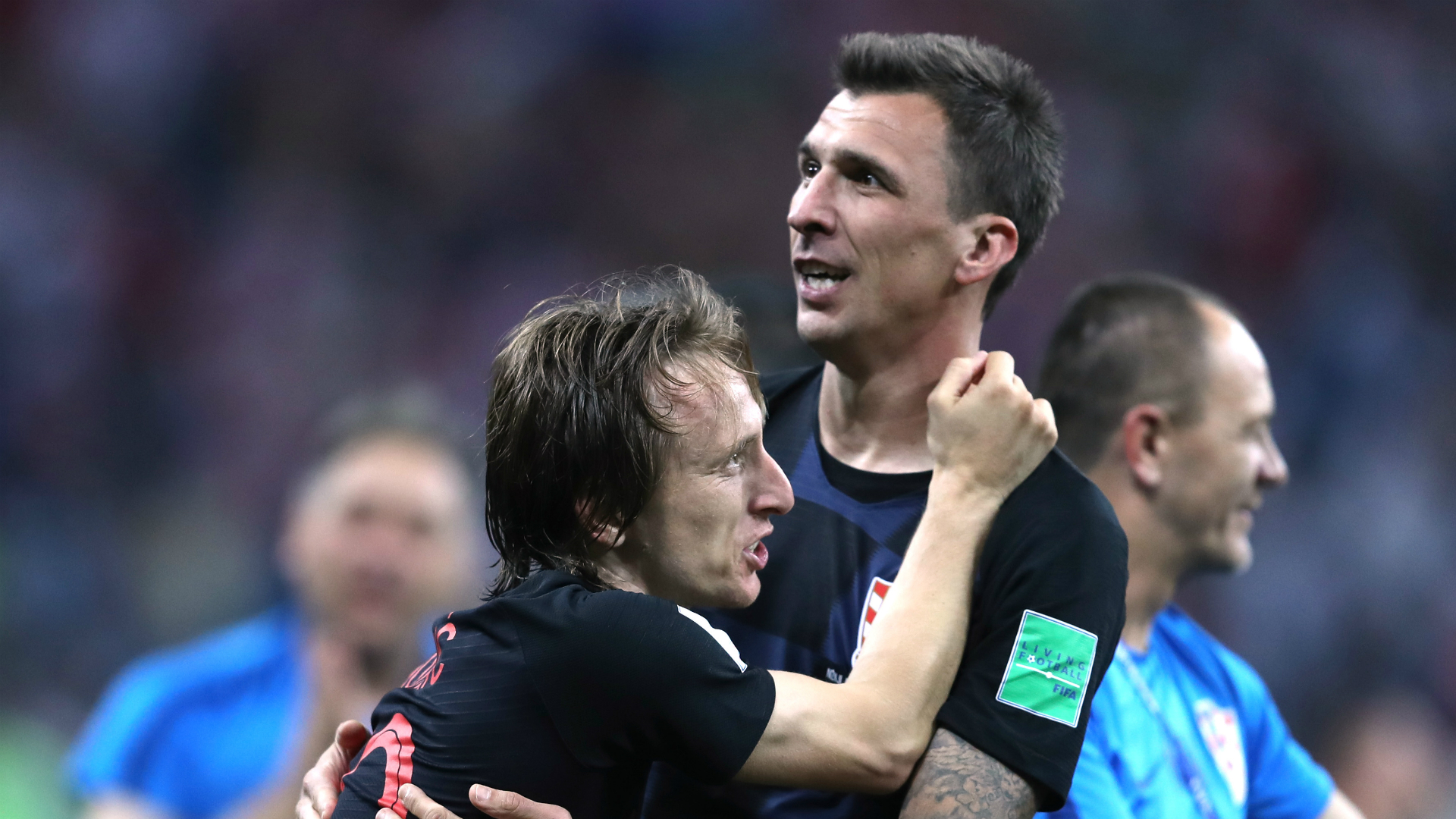 World Cup photographer crushed by celebrating Croatian team, captures every moment