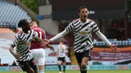 Mason Greenwood celebrating for Manchester United