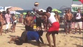 Team USA on the beach