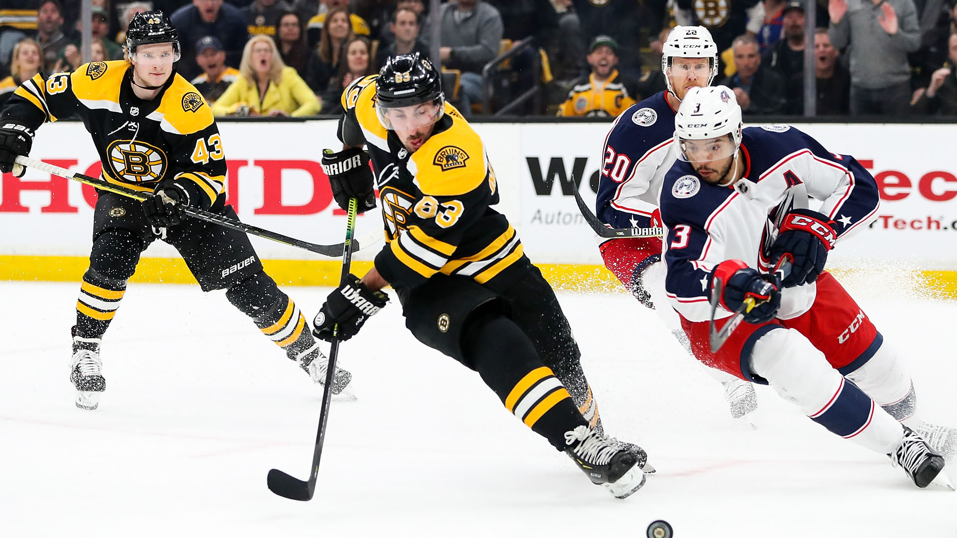 Stanley Cup Final: Bruins star Brad Marchand avoids injury after scare in scrimmage