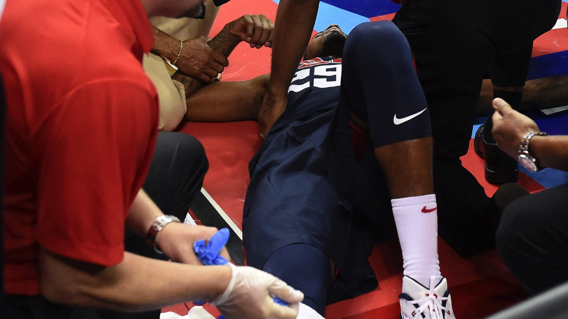 Paul George opens up about day he broke his leg | Sporting News