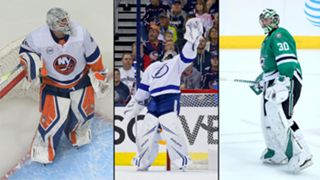 Robin Lehner (left), Andrei Vasilevskiy (center) and Ben Bishop