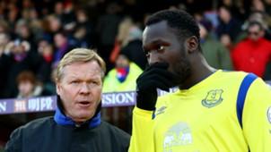 Everton's Ronald Koeman and Romelu Lukaku