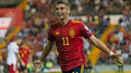 Ferran Torres celebrates for Spain against Georgia