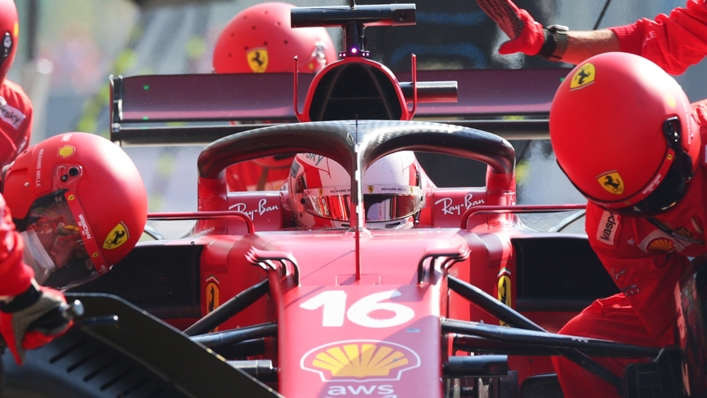 Charles Leclerc will start the Russian Grand Prix from the back of the grid