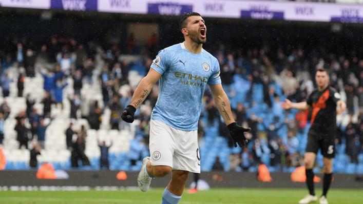 Sergio Aguero scored his 183rd and 184th Premier League goals