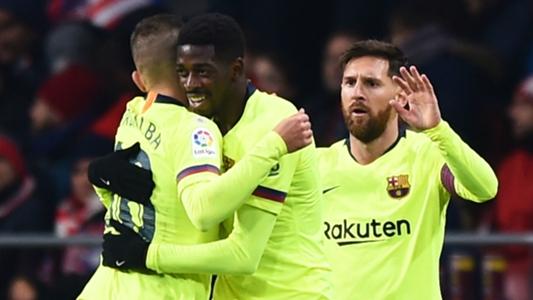 Barcelona boss Valverde praises Messi-Dembele partnership