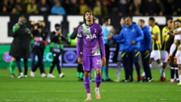 Dele Alli cuts a frustrated figure after Tottenham were defeated by Vitesse