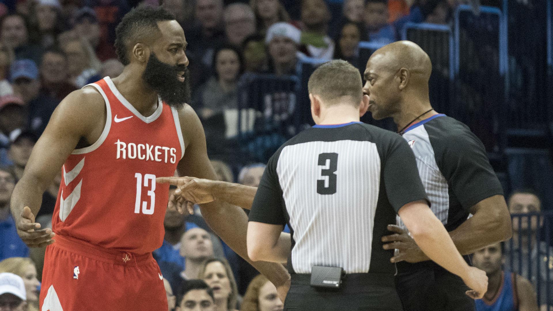 James Harden blasts two-official game after Celtics' comeback