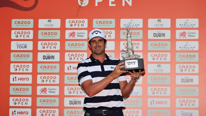Nacho Elvira sealed victory at the Kazoo Open supported by Gareth Bale