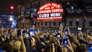 Fans outside Wrigley Field