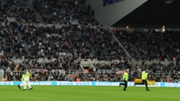 Newcastle's clash with Tottenham was temporarily suspended on Sunday