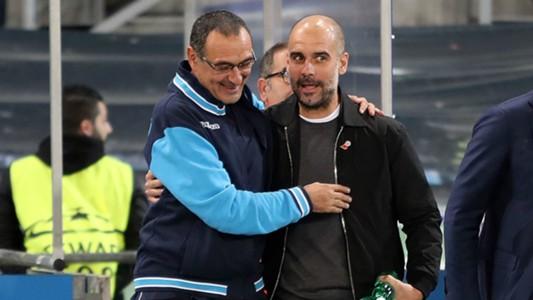 Maurizio Sarri and Pep Guardiola