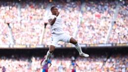 David Alaba celebrates his goal against Barcelona