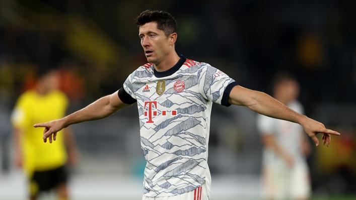 Robert Lewandowski netted four goals in a win against Hertha Berlin last season