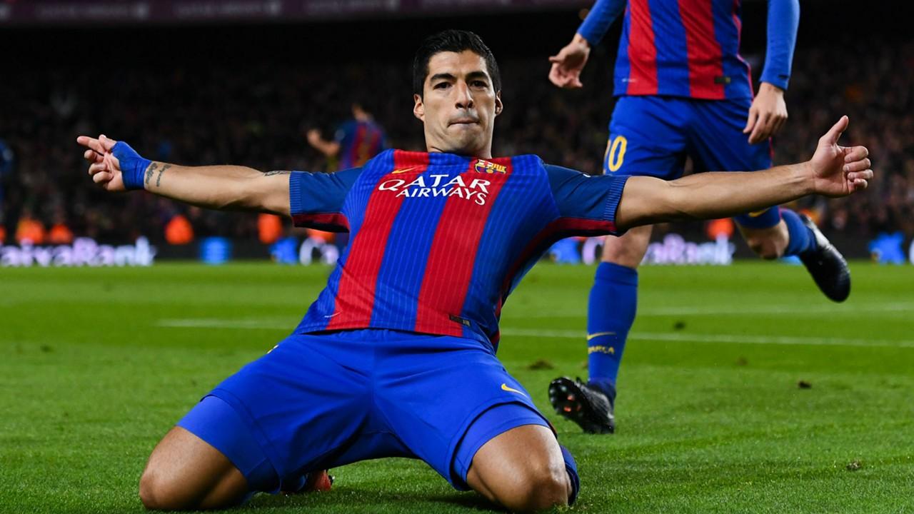 Luis Suarez brings up 100 Barcelona goals MSN 300