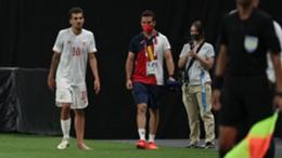 Dani Ceballos hobbles out of Spain's Olympic Games opener