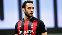 Milan midfielder Hakan Calhanoglu
