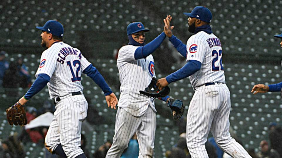 MLB wrap: Cubs stun Braves with 12-run rally; Mets' 9-game win streak ends