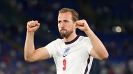 Harry Kane celebrates against Ukraine
