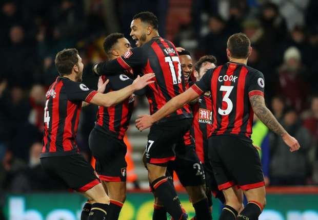 Bournemouth celebrate against Chelsea
