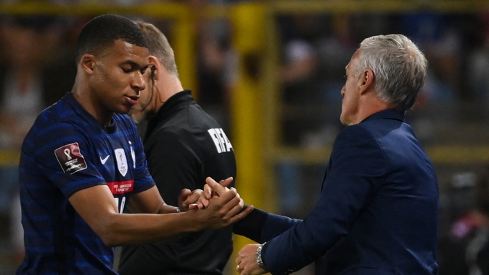 Kylian Mbappe was substituted off against Bosnia-Herzegovina