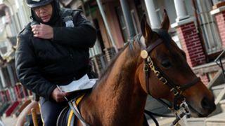 Mounted Philadelphia police officer