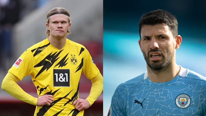 Erling Haaland and Sergio Aguero, who have both been linked to Chelsea
