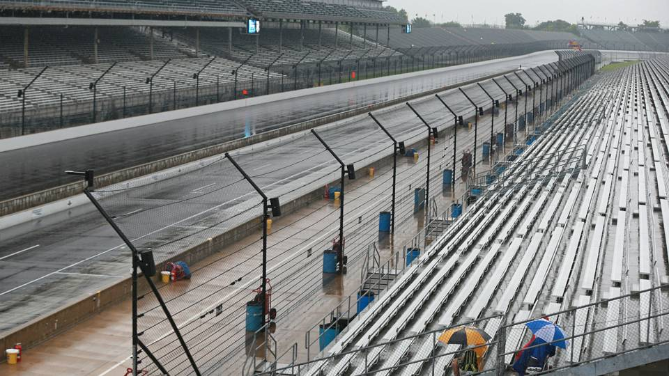 NASCAR's Saturday schedule at Indy rained out by remnants of Tropical Storm Gordon