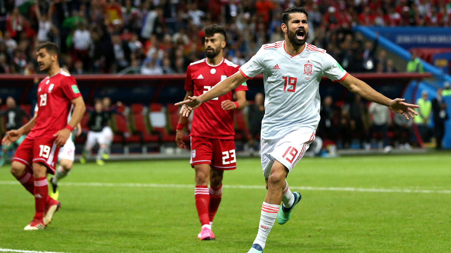 Spain vs Iran : Costa gets lucky goal