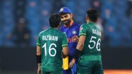 Virat Kohli congratulates Pakistan's openers after they cruised past India