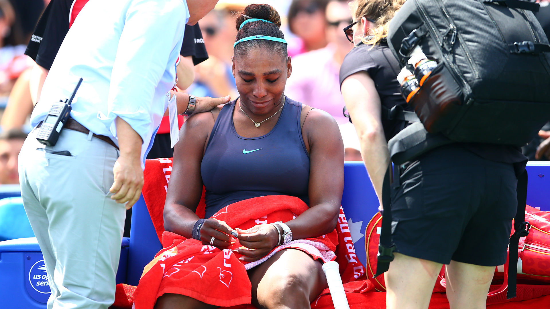 Serena Williams hopeful over back injury after Rogers Cup retirement